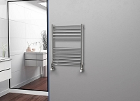Eastgate Straight Polished 304 Stainless Steel Heated Towel Rail 800mm High x 600mm Wide Electric Only