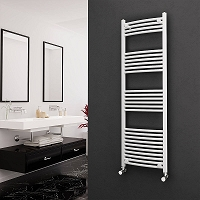 Eastgate White Curved Heated Towel Rail 1600mm High x 500mm Wide