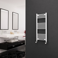 Eastgate White Straight Heated Towel Rail 1000mm High x 400mm Wide Electric Only