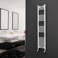 Eastgate White Straight Heated Towel Rail 1600mm High x 300mm Wide