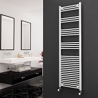 Eastgate White Straight Heated Towel Rail 1800mm High x 500mm Wide