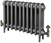Eastgate Victoriana 3 Column 10 Section Cast Iron Radiator 645mm High x 638mm Wide - Metallic Finish