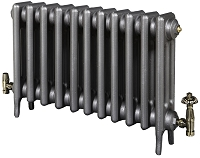 Eastgate Victoriana 3 Column 11 Section Cast Iron Radiator 645mm High x 698mm Wide - Metallic Finish