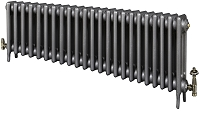 Eastgate Victoriana 3 Column 23 Section Cast Iron Radiator 450mm High x 1419mm Wide - Metallic Finish