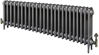 Eastgate Victoriana 3 Column 24 Section Cast Iron Radiator 450mm High x 1479mm Wide - Metallic Finish