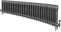 Eastgate Victoriana 3 Column 31 Section Cast Iron Radiator 450mm High x 1900mm Wide - Metallic Finish
