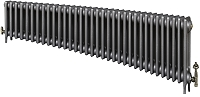 Eastgate Victoriana 3 Column 34 Section Cast Iron Radiator 450mm High x 2081mm Wide - Metallic Finish