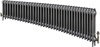 Eastgate Victoriana 3 Column 36 Section Cast Iron Radiator 450mm High x 2201mm Wide - Metallic Finish