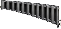 Eastgate Victoriana 3 Column 46 Section Cast Iron Radiator 450mm High x 2803mm Wide - Metallic Finish