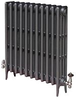 Eastgate Victoriana 4 Column 11 Section Cast Iron Radiator 760mm High x 706mm Wide - Metallic Finish