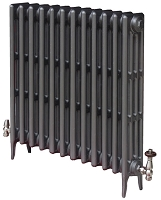 Eastgate Victoriana 4 Column 12 Section Cast Iron Radiator 660mm High x 776mm Wide - Metallic Finish