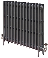 Eastgate Victoriana 4 Column 13 Section Cast Iron Radiator 660mm High x 837mm Wide - Metallic Finish