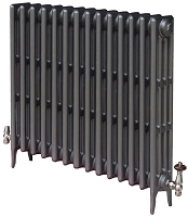 Eastgate Victoriana 4 Column 14 Section Cast Iron Radiator 460mm High x 884mm Wide - Metallic Finish