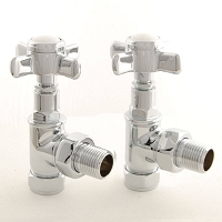 Eastgate Traditional Angled Chrome Radiator Valves (pair)
