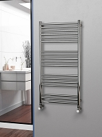 Eastgate Straight Polished 304 Stainless Steel Heated Towel Rail 1200mm High x 600mm Wide