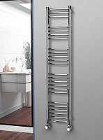 Eastgate Curved Polished 304 Stainless Steel Heated Towel Rail 1600mm High x 350mm Wide