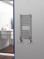 Eastgate Straight Polished 304 Stainless Steel Heated Towel Rail 800mm High x 350mm Wide