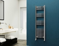 Eastgate Curved Chrome Heated Towel Rail 1400mm High x 400mm Wide