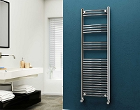 Eastgate Chrome Curved Heated Towel Rail 1600mm High x 500mm Wide