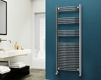 Eastgate Chrome Curved Heated Towel Rail 1600mm High x 600mm Wide