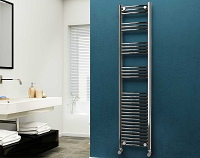 Eastgate Curved Chrome Heated Towel Rail 1800mm High x 400mm Wide