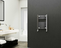 Eastgate Straight Chrome Heated Towel Rail 600mm High x 400mm Wide