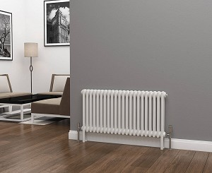 Eastgate Lazarus 2 Column White Horizontal Radiator 500mm High x 988mm Wide
