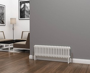 Eastgate Lazarus 3 Column White Horizontal Radiator 300mm High x 999mm  Wide