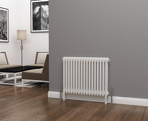 Eastgate Lazarus 3 Column White Horizontal Radiator 600mm High x 777mm Wide