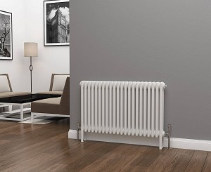 Eastgate Lazarus 3 Column White Horizontal Radiator 600mm High x 999mm Wide