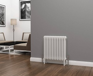 Eastgate Lazarus 4 Column White Horizontal Radiator 600mm High x 592mm Wide