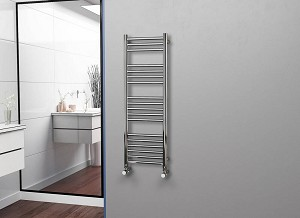 Eastgate Straight Polished 304 Stainless Steel Heated Towel Rail 1200mm High x 400mm Wide