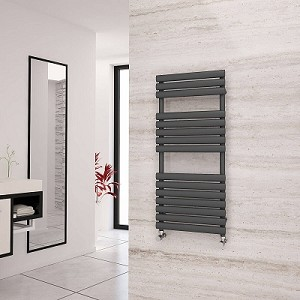 Eastgate Eclipse Anthracite Designer Heated Towel Rail 1120mm High x 500mm Wide