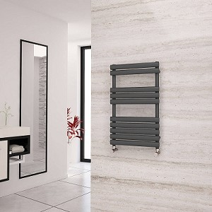 Eastgate Eclipse Anthracite Designer Heated Towel Rail 825mm High x 500mm Wide