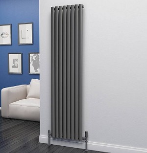 Eastgate Eclipse Anthracite Single Panel Vertical Radiator 1800mm High x 464mm Wide