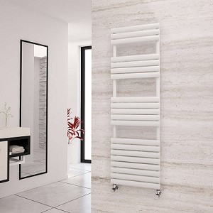 Eastgate Eclipse White Designer Heated Towel Rail 1595mm High x 500mm Wide