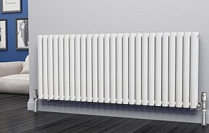 Eastgate Eclipse White Double Panel Horizontal Designer Radiator 600mm High x 1508mm Wide