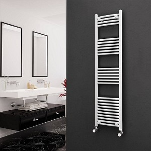 Eastgate White Curved Heated Towel Rail 1600mm High x 400mm Wide